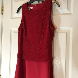 Patra Long Red Sequin Dress Size 12